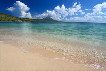 Secluded beach on the Caribbean island of Saint Kitts