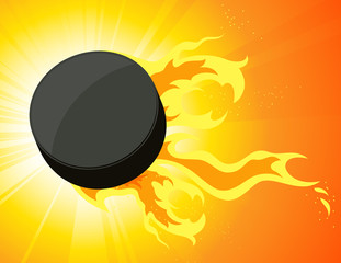 Burning puck