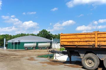 Moderne Biogas-Anlage