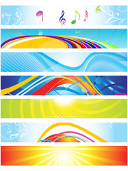abstract colorful web banners