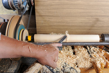 works on a lathe