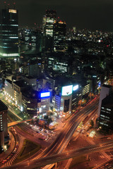 Keuken foto achterwand Buenos Aires View of Tokyo at night