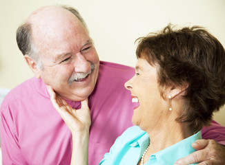 Laughing Loving Senior Couple