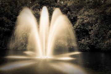 Springbrunnen abstrakt