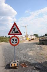 Schild, Baustelle