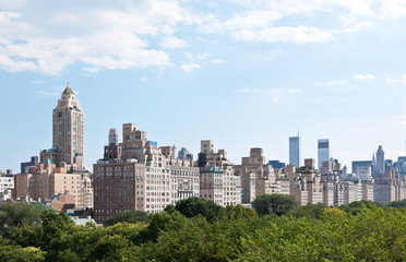 Manhattan skyline and the Central Park