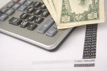 Money on calculator - Finance - Business