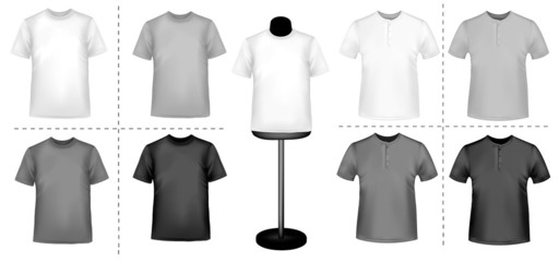 Shirts with a mannequin. Photo-realistic vector.