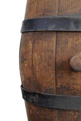 Old wooden barrel.
