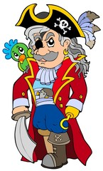 Foto auf AluDibond Pirates Cartoon noble corsair
