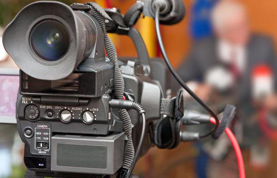 Grabación profesional con cámara de televisión