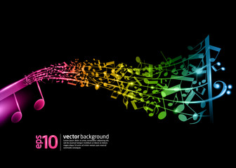 neon music background