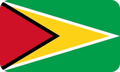 Drapeau-Guyana-Coins-Arrondis