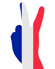 Französisches Handzeichen