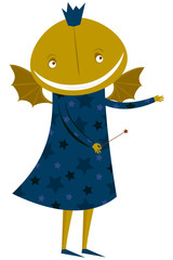 The amusing fairy. A vector illustration on Halloween