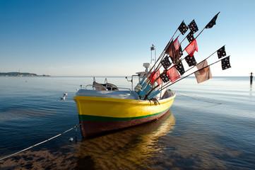 fishing boat, Baltic seaside
