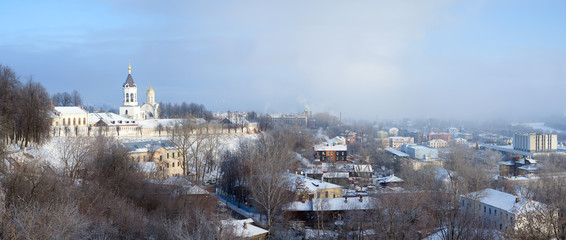 Panorama of winter Vladimir