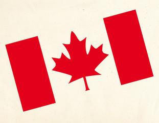 Drapeau sur tissus_Canada