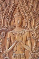 carving, Wat Phu Khao, Sahassakhan, Kalasin