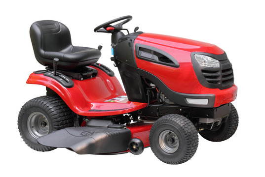 Lawn Tractor Isolated