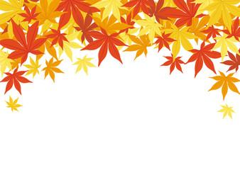Fototapeta 秋の背景素材-紅葉- obraz