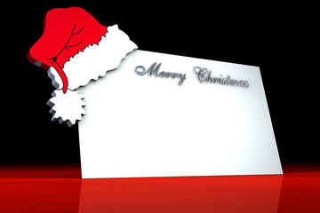 Biglietto Natale Cappello