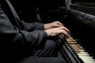Hands of the musician