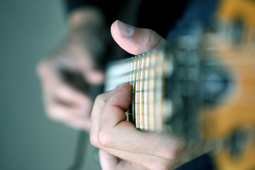 Playing Guitar Close Up