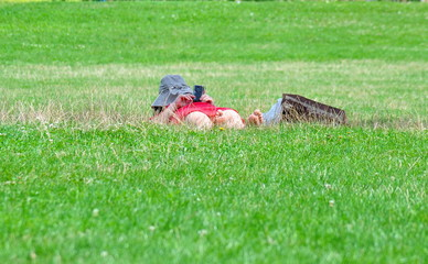 femme, telephone portable photo et sieste