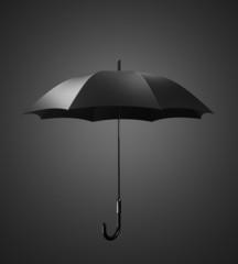 Black umbrella, studio photo sesiya