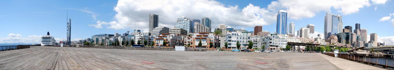 Keuken foto achterwand Rotterdam View from the Seattle Pier Panorama