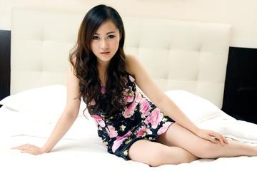 beautiful girl in lingerie in bed
