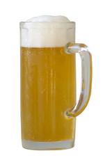 beer mug on a white