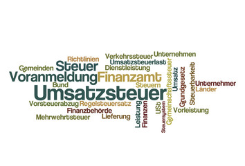 Umsatzsteuer Voranmeldung - Word Cloud