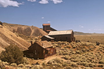View of an Old West Ghost Town