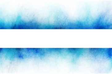 blue banner element on white background