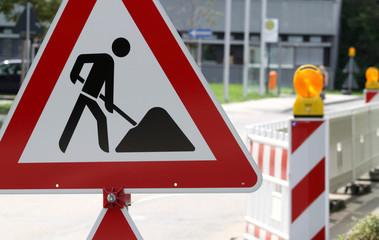 Bauarbeiten Schild I