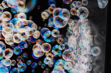 Viele Seifenblasen