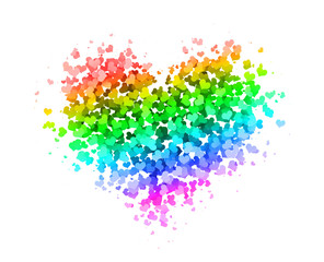 Heart made of Hearts Colorful