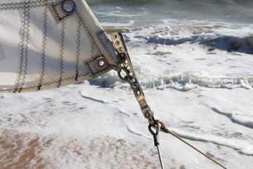 voile de catamaran sur la plage