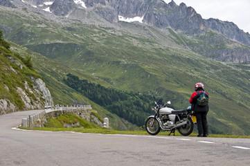 Fototapete - woman biker