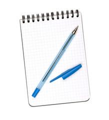 Pen on notepad