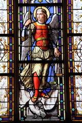 Foto op Plexiglas Stained St Georges terrassant le dragon