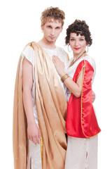 portrait of couple in Greek style