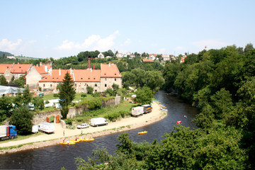 River in Czech Krumlov