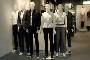 mannequins in a shop