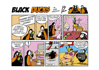 Foto op Aluminium Comics Black Ducks Comic Strip episode 52