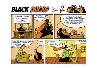 Fotorolgordijn Comics Black Ducks Comic Strip episode 51
