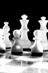 Schachbrett im harten Licht