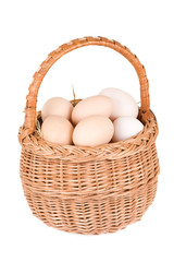 basket and eggs